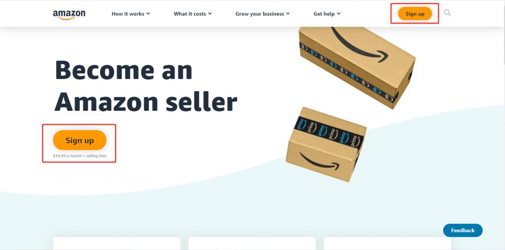 Create a new Amzon seller account