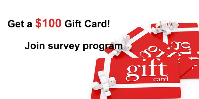 Take a survey and get a gift card worth $100