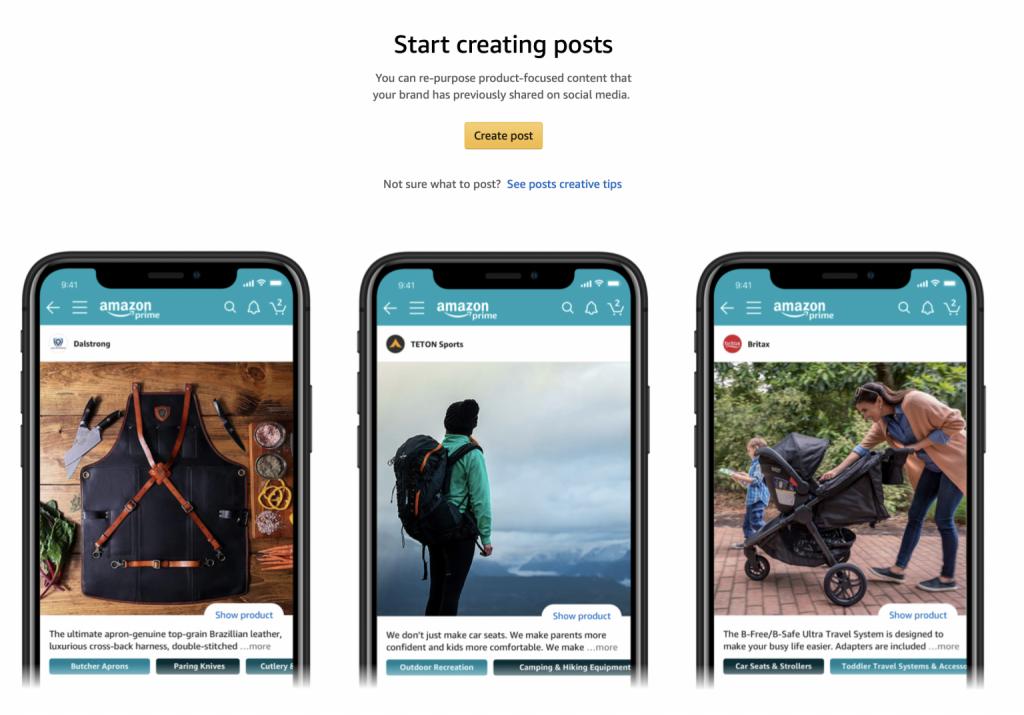 Create Amazon posts