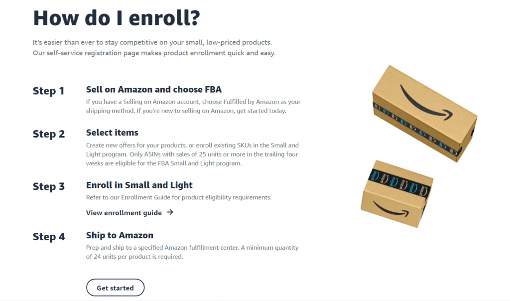 How to enroll in FBA Small and Light Program